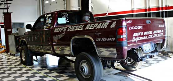 Diesel Truck upgraded with custom performance parts